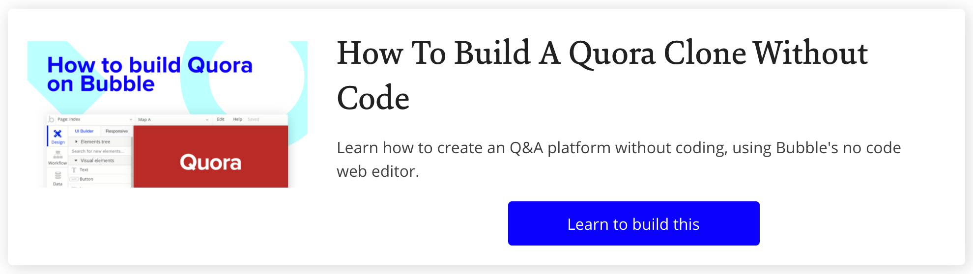 How To Build Quora in Bubble with No Code Tutorial