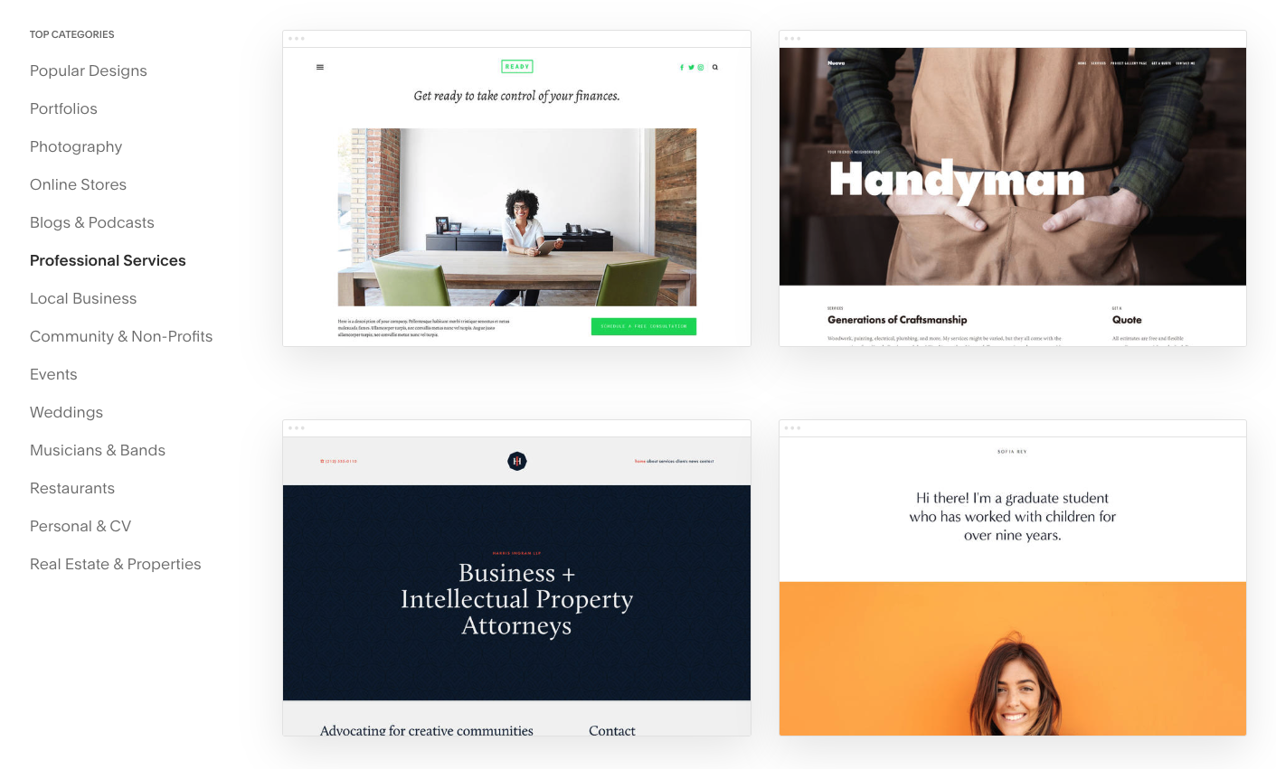 Squarespace Review Templated Website Builder