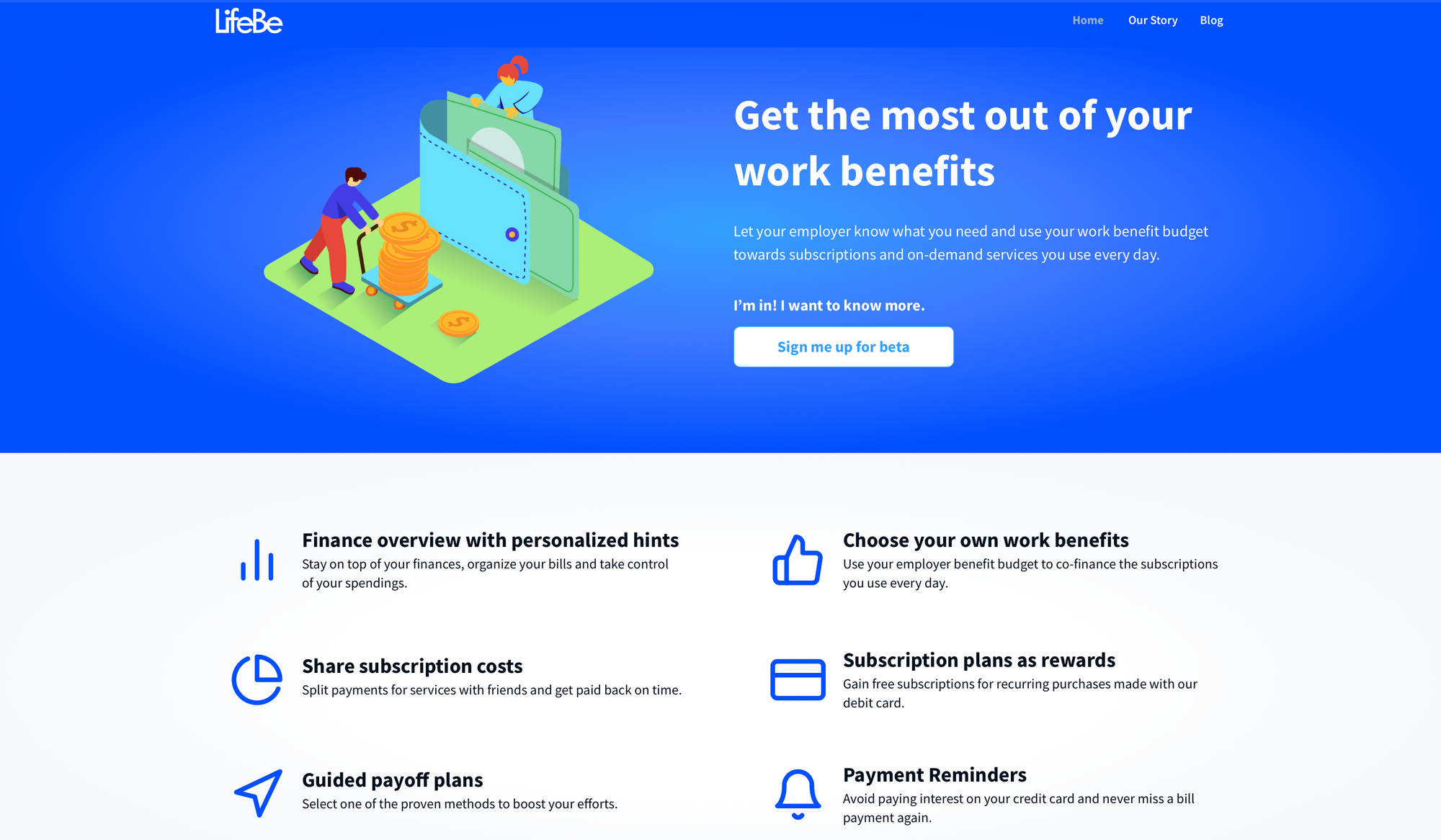 LifeBe's features