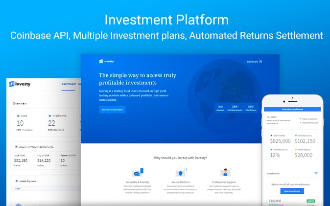 The Investy no-code app template