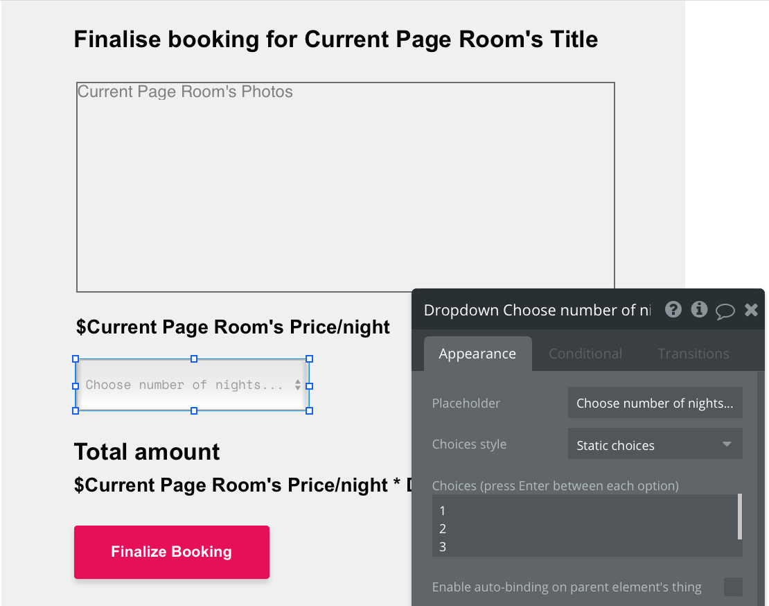 Selecting the total nights of an Airbnb booking