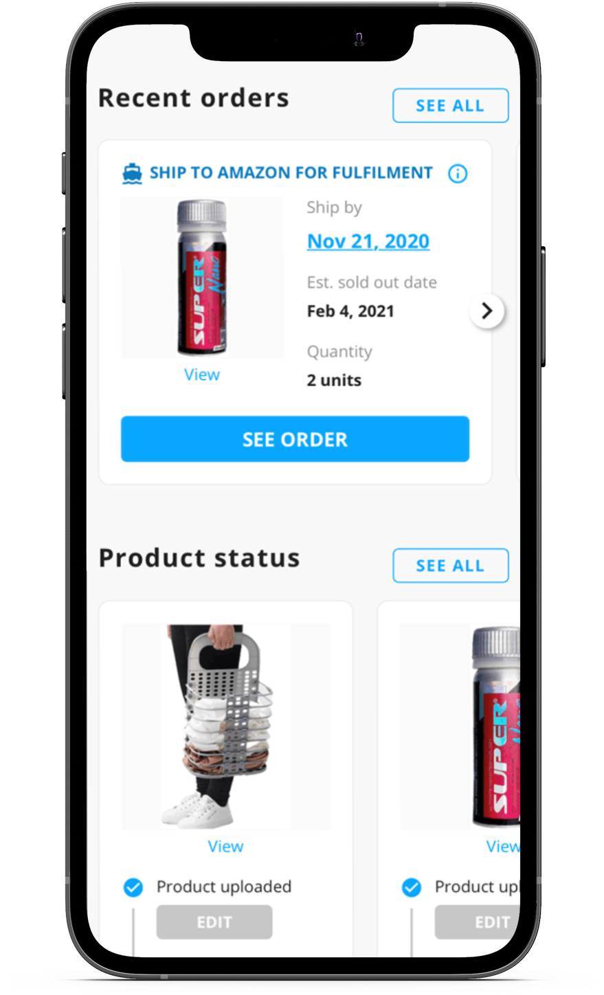 Starlity is mobile friendly. Users can list products on the marketplace through an app.