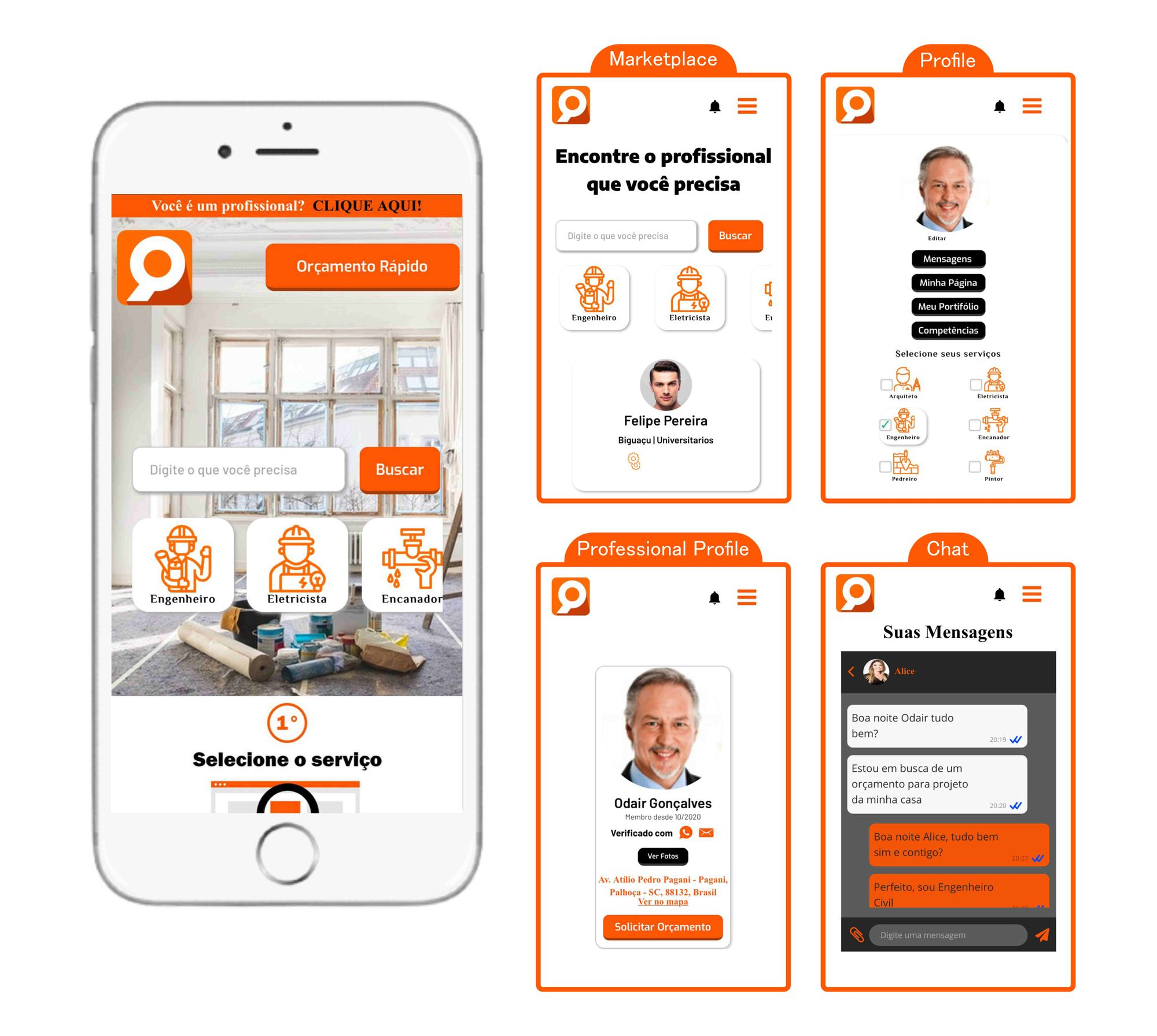 Users can access GetUrbans services and features on mobile.