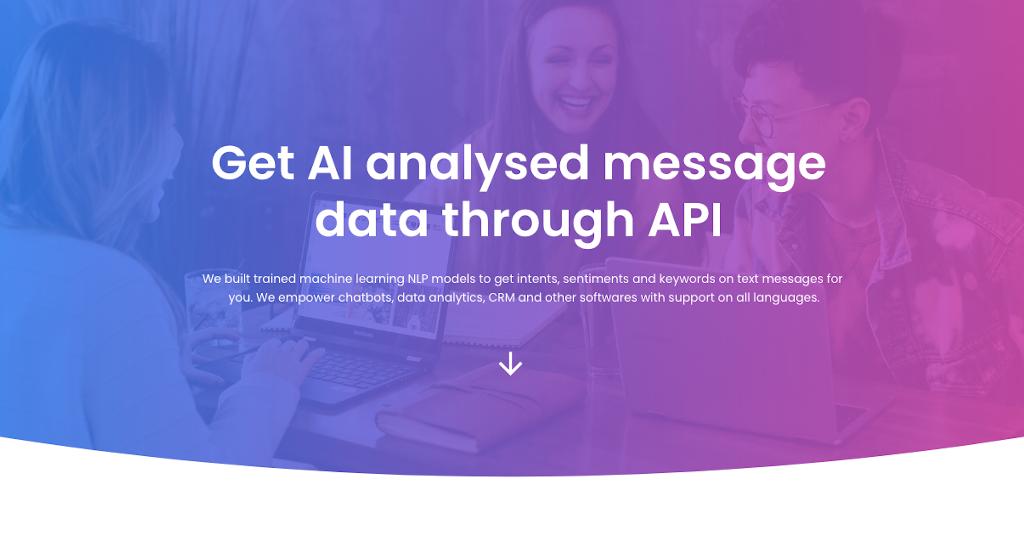 Obtain analyzed message data through API