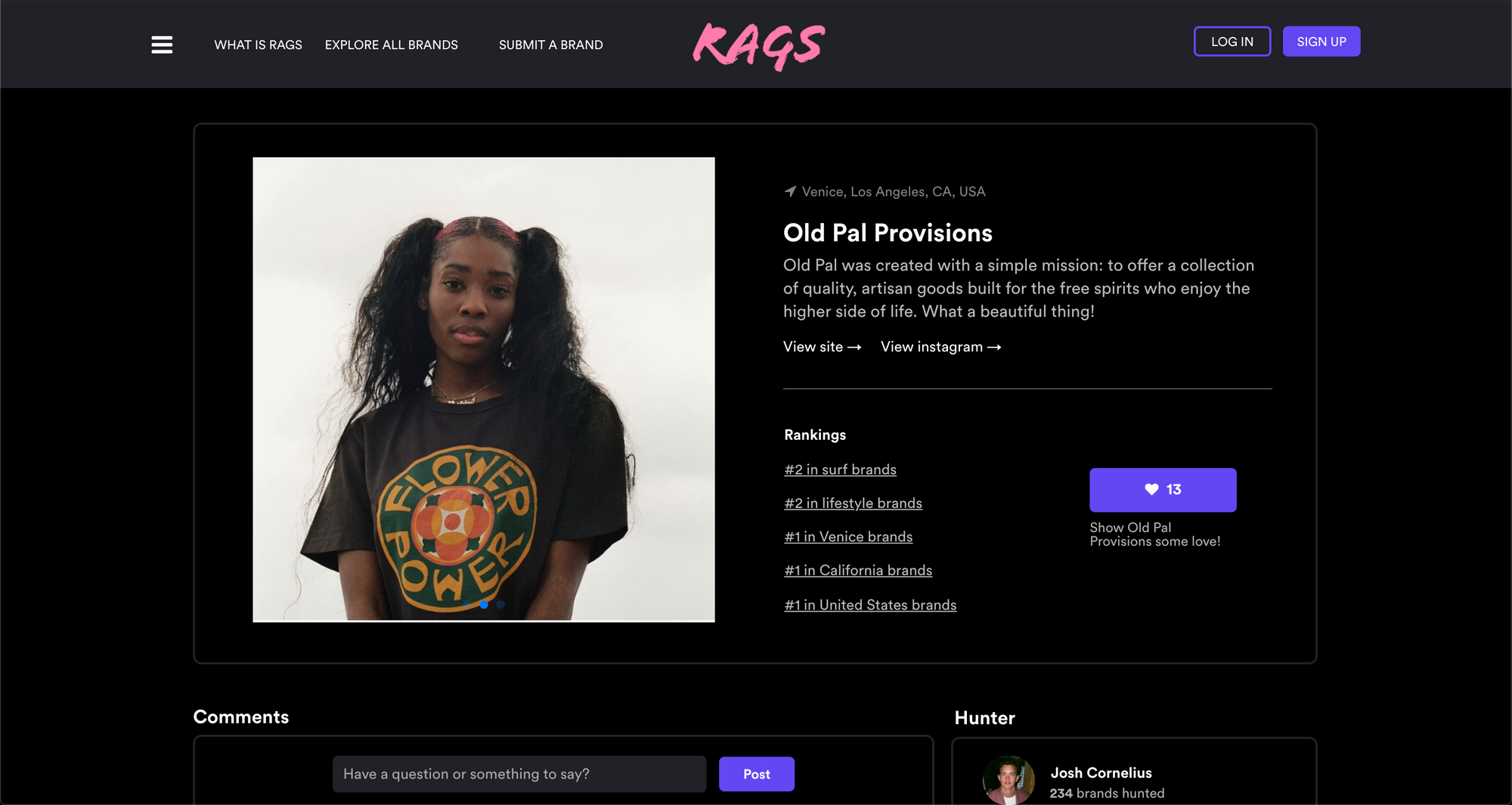 Rags is the best way to discover cool clothing brands.