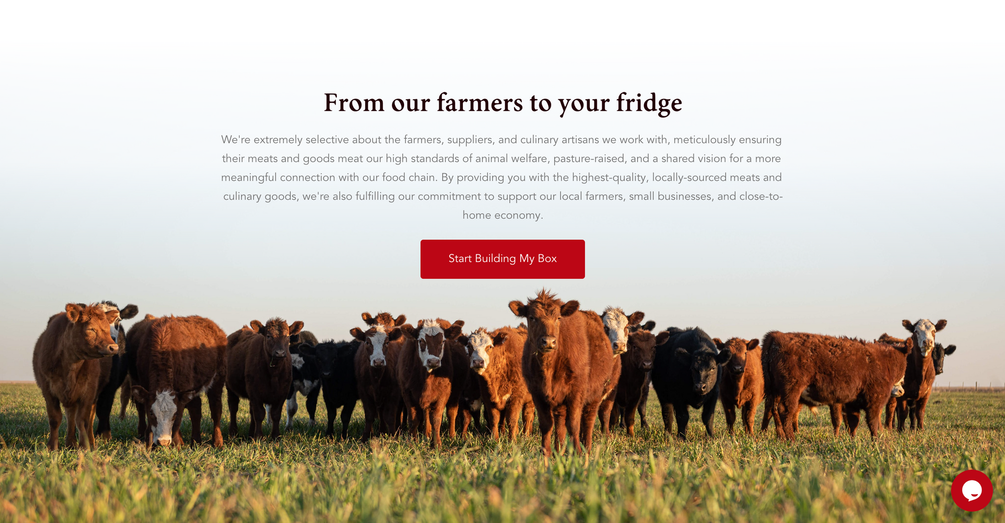 Northern Raised is a customizable monthly subscription solution for our grass-fed, naturally-raised meats and fish business.