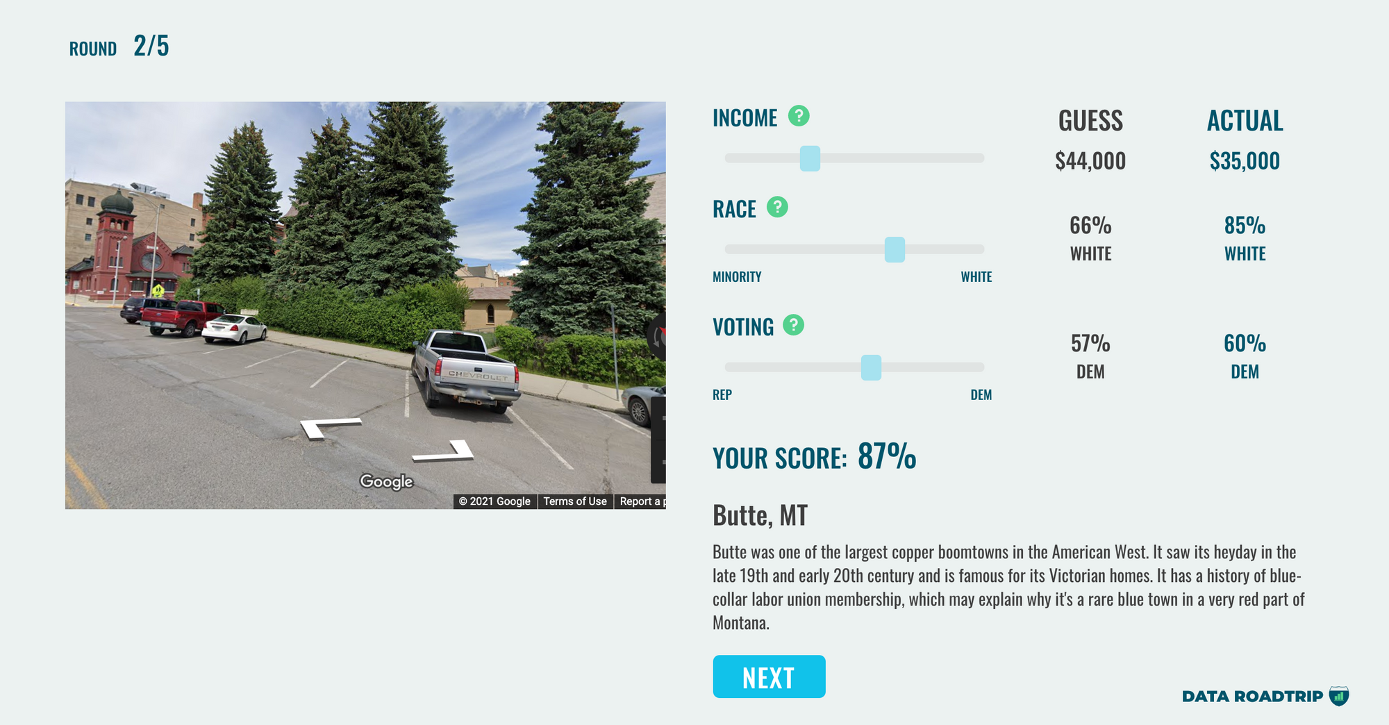 You have three minutes to move the sliders (income, minority population, and election results).