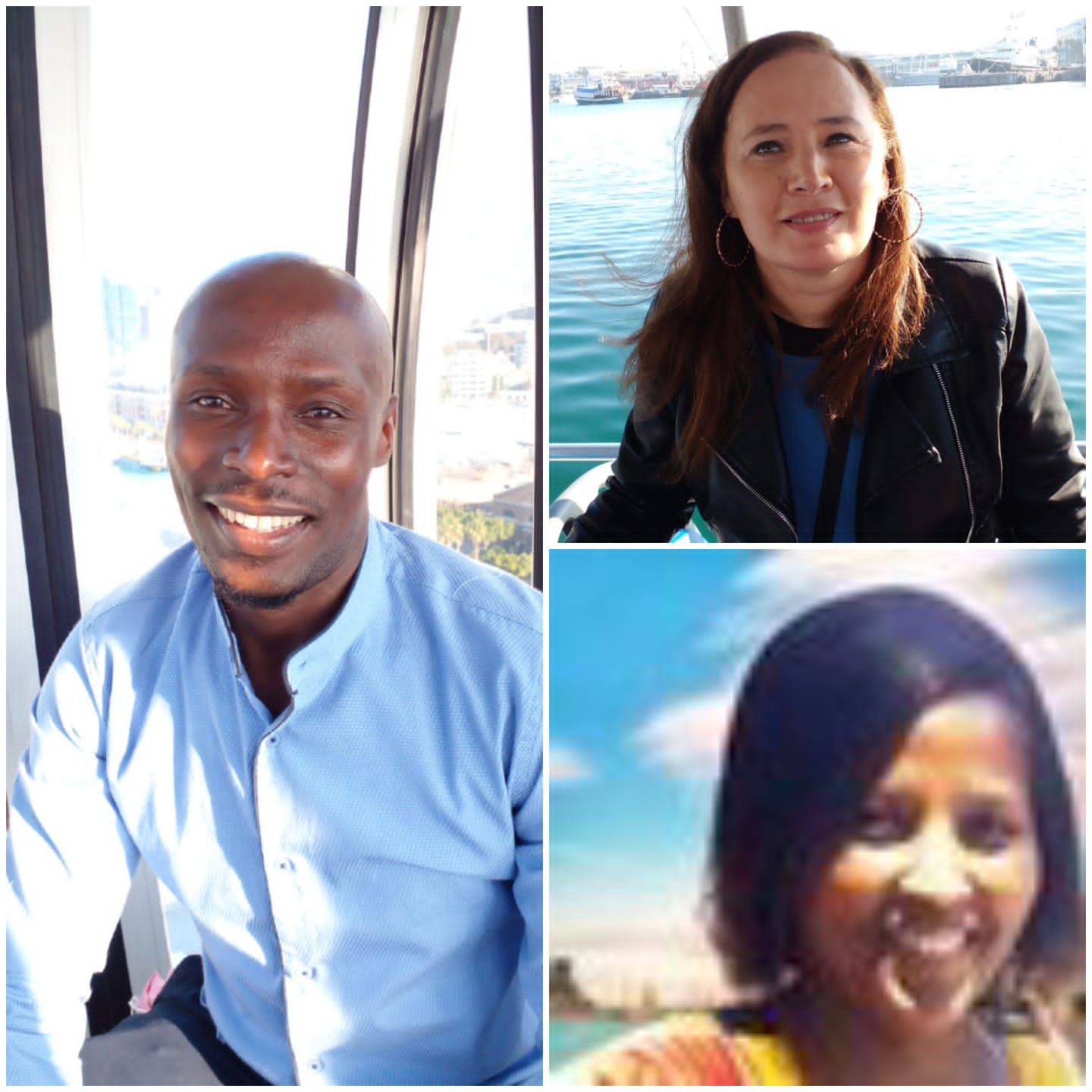 From left to right, top to bottom: Leslie. T  Borerwe, Kelsey Amy, Esther Orora-Njenga