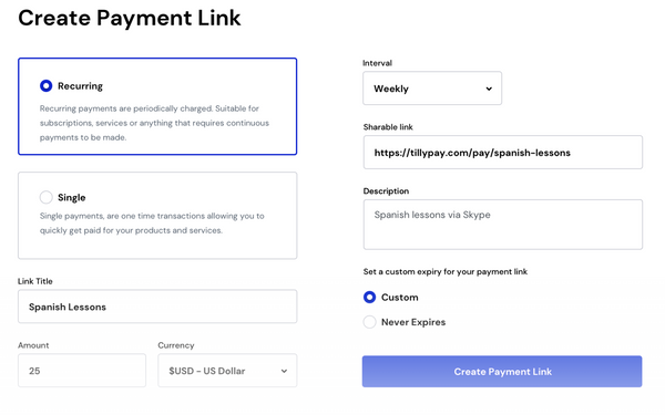 TillyPay Review: Stripe Payments Processor