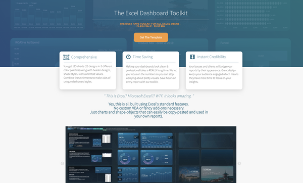 Bubble App of the Day: The Excel Dashboard Toolkit